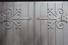 Dekorativa dörrgångjärn Royaltyfri Fotografi