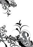 dekorativa desgnblommor Arkivbild