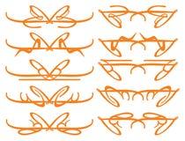 Dekorativa designbeståndsdelar för tappning Royaltyfria Bilder