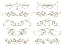 Dekorativa designbeståndsdelar för tappning Arkivfoton