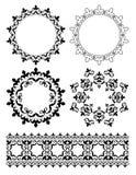 Dekorativa designbeståndsdelar - prydnader stock illustrationer