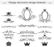 Dekorativa designbeståndsdelar. Vektor. Royaltyfria Foton