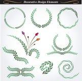 Dekorativa designbeståndsdelar 11 Royaltyfri Bild