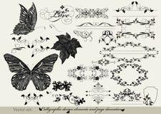 Dekorativa designelement Stock Illustrationer