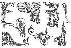 dekorativa designelement Arkivfoto
