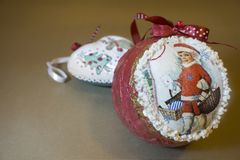 Dekorativa detaljer för jul Arkivfoto
