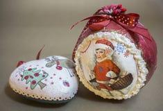 Dekorativa detaljer för jul Arkivbild