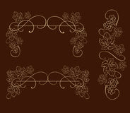 Dekorativa druvor, vinrankavektorprydnad Royaltyfria Foton