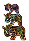 dekorativa elefanter Arkivfoto