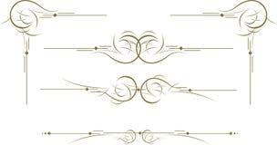 Dekorativa element Royaltyfria Bilder