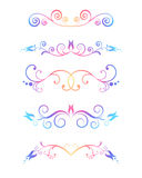 dekorativa element vektor illustrationer