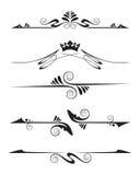 dekorativa element stock illustrationer