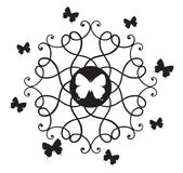 dekorativa element för fjärilar Arkivbilder