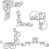dekorativa element för hörn royaltyfri illustrationer