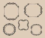 dekorativa element Tatuering också vektor för coreldrawillustration Svart vit Royaltyfria Foton