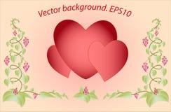 Dekorativa färgrika blom- hjärtor Vektor Eps10 Royaltyfri Foto
