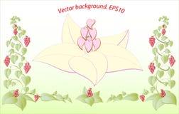 Dekorativa färgrika blom- hjärtor Vektor Eps10 Royaltyfria Bilder