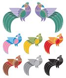dekorativa fåglar Fotografering för Bildbyråer