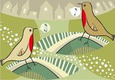 dekorativa fåglar Arkivbild