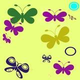dekorativa fjärilar Fotografering för Bildbyråer