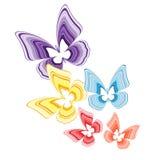 dekorativa fjärilar Arkivbild
