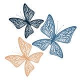 dekorativa fjärilar Royaltyfria Foton