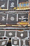 Dekorativa flaggor i Songzanlin Royaltyfria Bilder