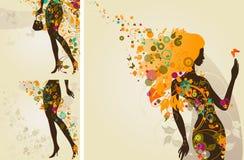dekorativa flickor Arkivfoto