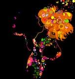 dekorativa flickor Royaltyfria Bilder
