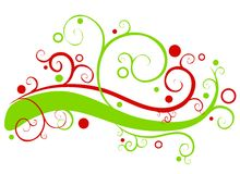 dekorativa girlandswirls för jul Royaltyfri Bild