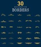 Dekorativa gränser och avdelare stock illustrationer