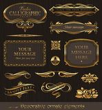 dekorativa guld- designelement Royaltyfri Foto