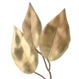Dekorativa guld- leaves för jul Arkivfoto