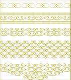 dekorativa guldoriginalmodeller Arkivbilder