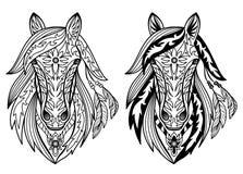 Dekorativa hästar Arkivfoto