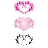 dekorativa hjärtor Royaltyfria Bilder
