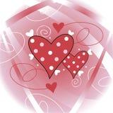 dekorativa hjärtor Arkivbild