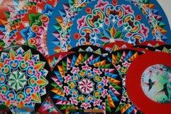 Dekorativa hjul Royaltyfria Bilder