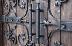 Dekorativa järndetaljer i gotisk stil Arkivbilder