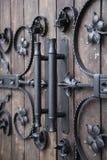 Dekorativa järndetaljer i gotisk stil Fotografering för Bildbyråer