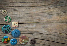 Dekorativa knappar för tappning Royaltyfria Foton