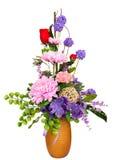 Dekorativa konstgjorda blommor Arkivbilder