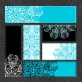 Dekorativa kort för tappning för din design royaltyfri illustrationer