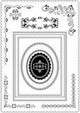 Dekorativa krusidullram och hörn Royaltyfri Fotografi