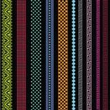 Dekorativa linjer samling Arkivfoto