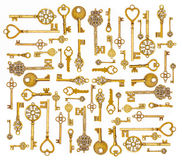 Dekorativa medeltida tappningtangenter Arkivbilder