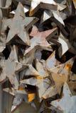 Dekorativa metallstjärnor Royaltyfria Bilder