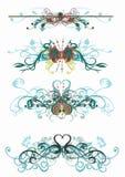 dekorativa modeller vektor illustrationer
