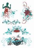 dekorativa modeller royaltyfri illustrationer