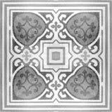 Dekorativa modeller för keramiska tegelplattor texturerar bakgrund i parkera Arkivfoton